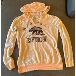 Volcom Pink Long Sleeve Hoodie Sweatshirt